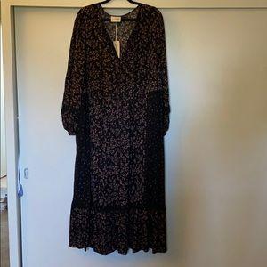 Universal thread 2x black maxi dress NWT